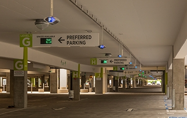 Image for Aviation Pros: San Diego International Airport Unveils Indect's  Parking Guidance System In New Terminal 2 Parking Plaza