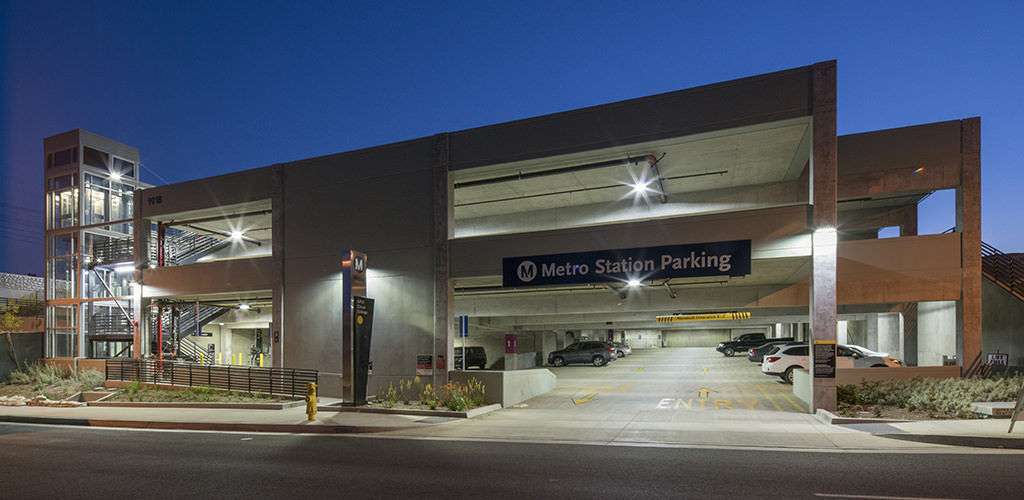 Slideshow image for Metro Gold Line Azusa Citrus Station Parking Structure
