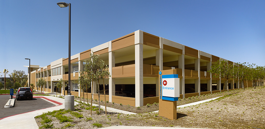 Slideshow image for CSU San Bernardino Parking Structures 101 & 102 and Parking Services Building
