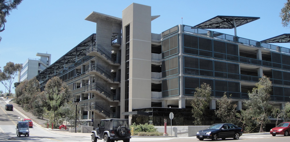 Slideshow image for UC San Diego Hopkins Parking Structure