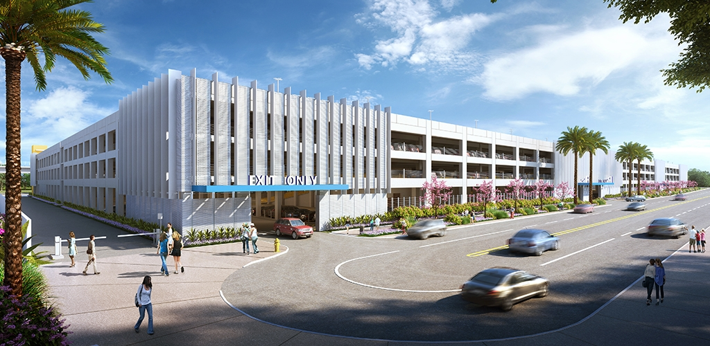 Slideshow image for LAX Intermodal Transportation Facility-West Parking Structure